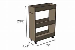 Slim Rolling Laundry Room Storage Cart - Free DIY Plan