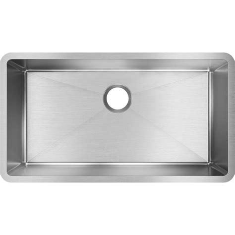 stainless steel single bowl undermount kitchen sink elkay crosstown undermount stainless steel 33 in single