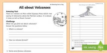 all about volcanoes worksheet worksheet july amazing fact fact file
