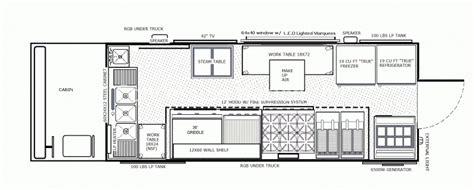 food truck design food truck floor plans layouts