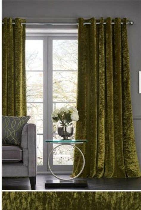 curtains  pairs  luxury green eyelet crushed