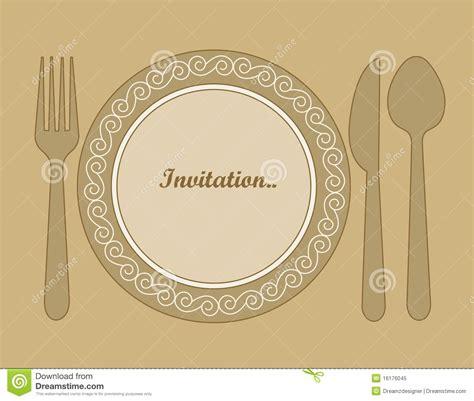 invitaci 243 n de la cena ilustraci 243 n vector ilustraci 243 n de dishware 16176045