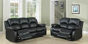 homelegance cranley reclining sofa set black bonded With homelegance black leather reclining sectional sofa chaise recliner