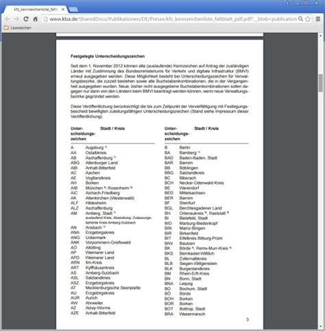 autokennzeichen deutschland liste zum ausdrucken kalender