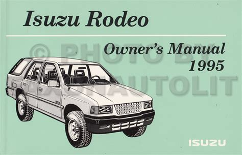 free car repair manuals 1994 honda passport interior lighting 1994 1995 isuzu rodeo honda passport repair shop manual original