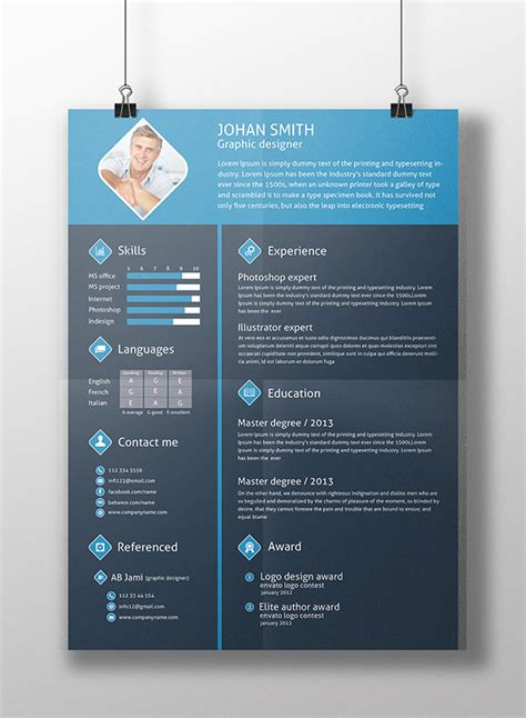 free resume templates colorful differant