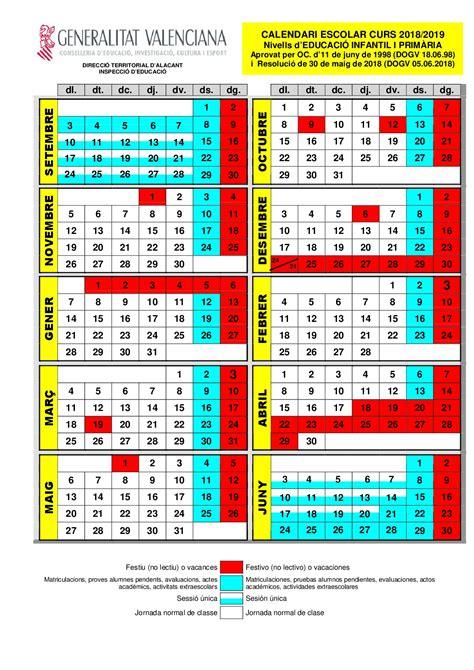 calendario escolar fapa alicantefapa alicante