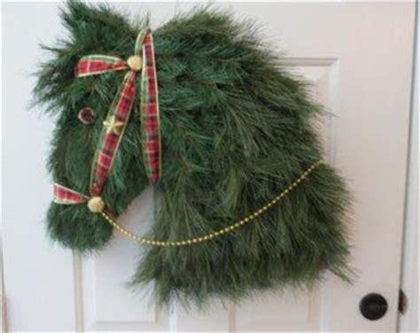 ideas  horse head wreath  pinterest xmas