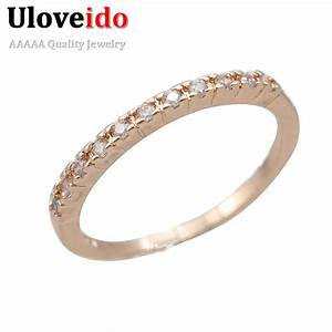 women wedding rings fianit rose gold color cubic zirconia With rose gold wedding rings for women