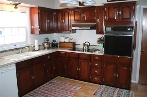 cheap ways to redo kitchen cabinets general finishes georgian cherry gel stain project this 9412