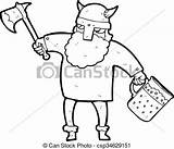 Drunk Cartoon Viking Clipart Man Vector Warrior Freehand Drawn Being Drawings Drawing Clip Canstockphoto sketch template