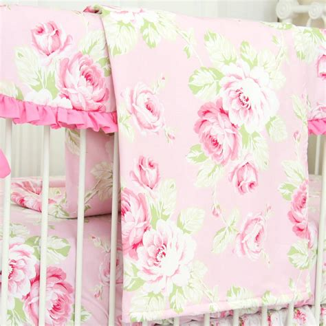 shabby chic products shabby chic roses ruffle baby beddling caden lane