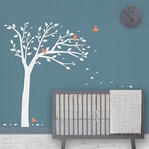 Stickers Arbre Chambre Bébé : oiseau arbre d calque de mur enfants stickers muraux b b ~ Melissatoandfro.com Idées de Décoration