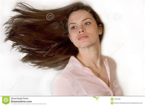 With Hair by With Waving Hair Royalty Free Stock Image Image
