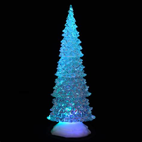 battery operated colour changing led acrylic tree