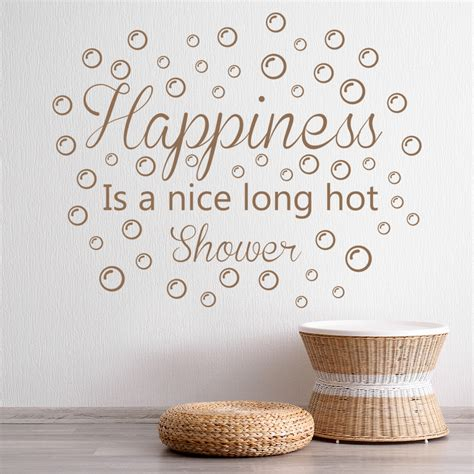 Bathroom Quotes Uk by Happiness Wall Sticker Bathroom Quote Wall Decal Shower