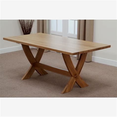 crossley 6ft solid oak dining table 6 waved back leather
