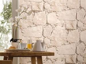 Papier Peint Imitation Pierre 4 Murs : les papiers peints trompe l il boostent nos murs elle d coration ~ Dode.kayakingforconservation.com Idées de Décoration