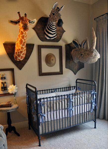 chic  fun safari nursery