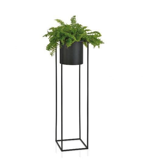 cache pied cuisine cache pot sur pied en métal noir hauteur 100cm