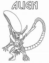 Alien Coloring Pages Print sketch template