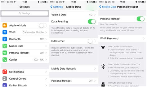 how to use your iphone as a hotspot how to use apple s personal hotspot callmaster mobile
