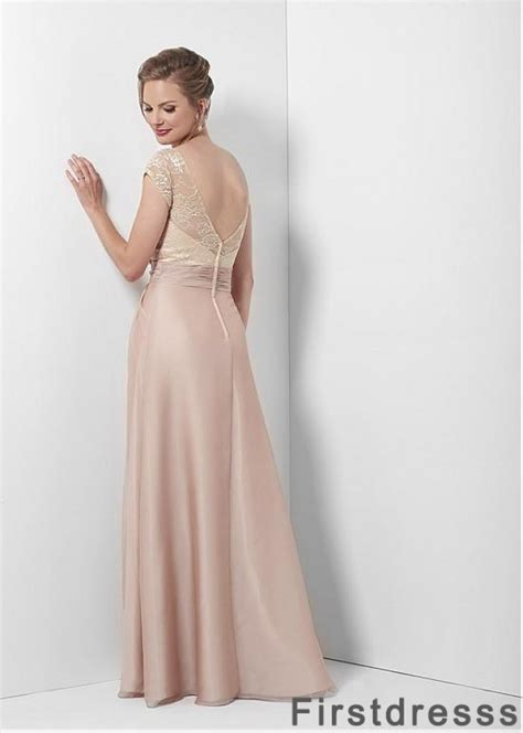 Champagne colored mother of the bride long dresses under ...