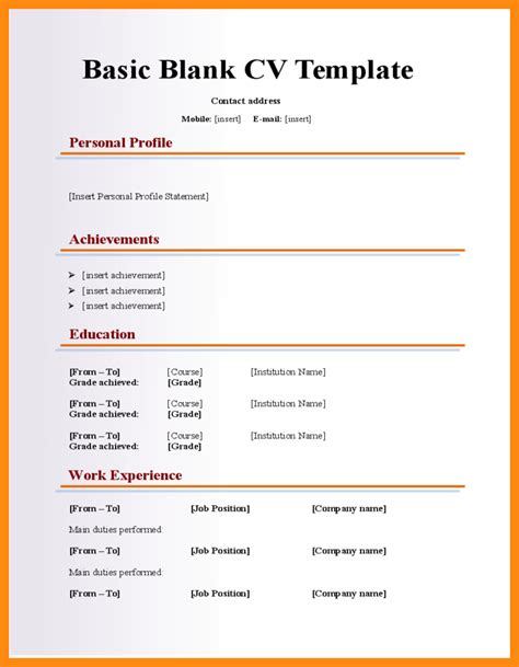 21403 resume templates and exles blank resume template resume template easy http www