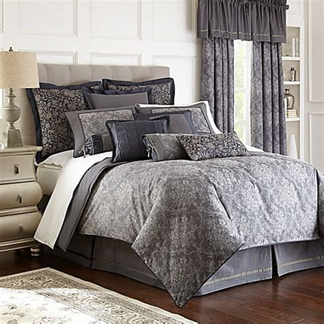 Waterford® Linens Georgica Reversible Comforter  Bed Bath