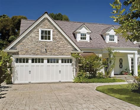 White Garage Doors by Give Your Home Cottage Charm With A White