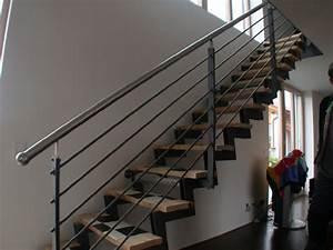 Handlauf Für Treppe : treppe aus stahl treppenandlauf aus edelstahl ~ Michelbontemps.com Haus und Dekorationen