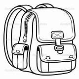Bookbag Drawing Bag Coloring Getdrawings sketch template