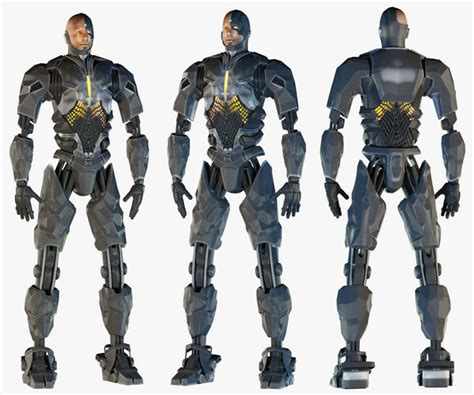 cyborg justice league  cgtrader