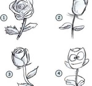 How to Draw Cartoon Rose Drawing