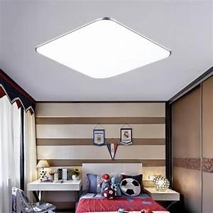 Wohnzimmer Lampe Dimmbar : ultraslim led deckenleuchte panel lampe dimmbar wohnzimmer ~ Watch28wear.com Haus und Dekorationen