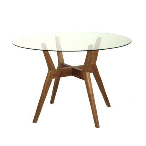 table ronde en verre et bois la maison cassette achat
