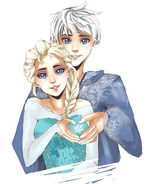 jack and elsa ♥ love this come on disney this is frozen2 jack elsa jack frost elsa elsa