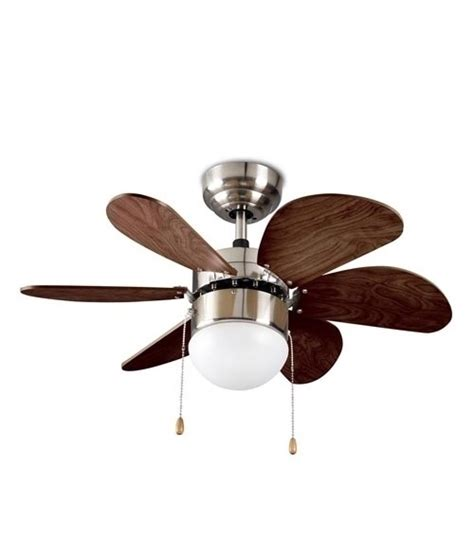 wood effect fan with l reversible blades and pull