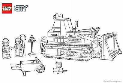 Lego Coloring Construction Pages Printable Adults