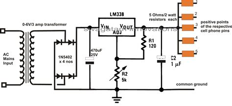 Multi Cell Lithium Ion Battery Charger Circuit Schematic