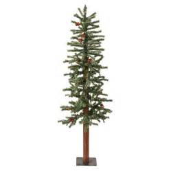 shop vickerman 3 ft pre lit winterberry slim artificial christmas tree with white incandescent