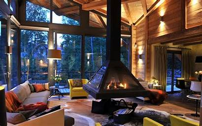 Fireplace Interior Furniture Wallpapers Wallpaperup