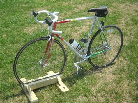 diy bike stand  steps  pictures