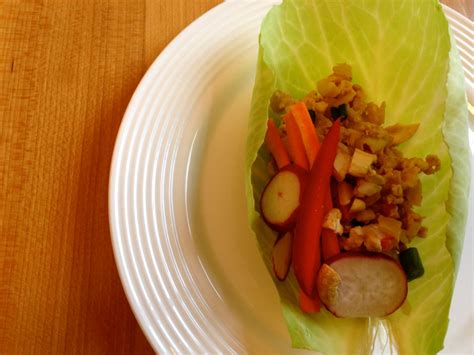 How To Quickie Meal Thai Chicken Cabbage Wraps How To Eat