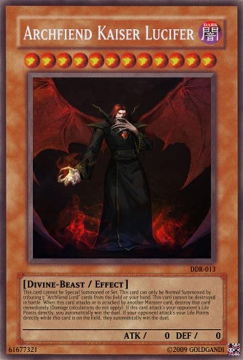 archfiend kaiser lucifer yu gi  card maker wiki
