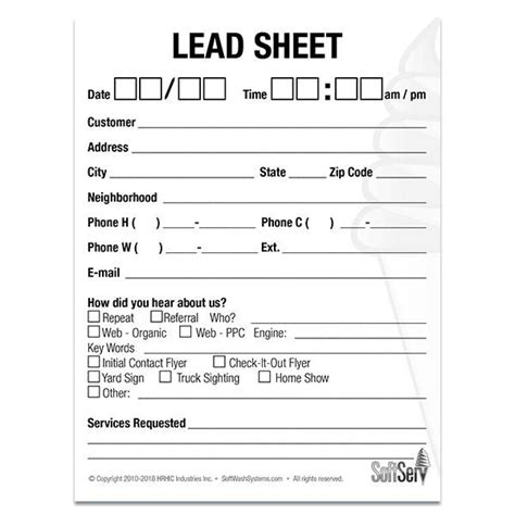 lead sheet set   softwash systems