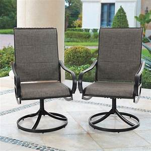 Mf, Studio, Outdoor, Dining, Chairs, Patio, Padded, Chairs, 360, U00b0swivel, Design, Grey