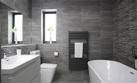 contemporary grey bathroom in a former bedroom homes
