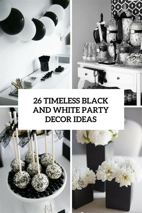 black and white party table centerpieces 26 timeless black and white party ideas shelterness