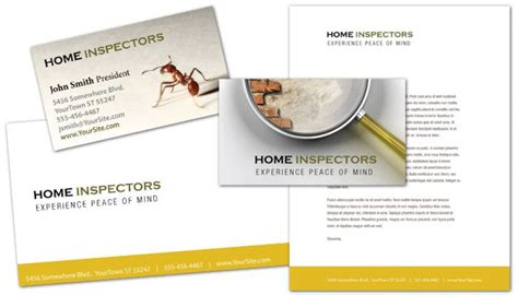 Business Card Template For Home Inspection Services. Order